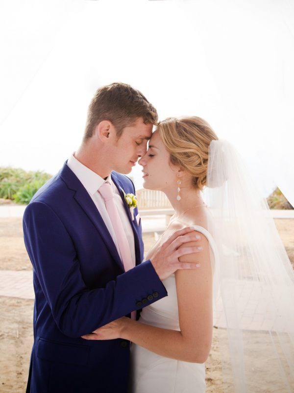 capture a private moment of the bride and groom at a La Jolla wedding