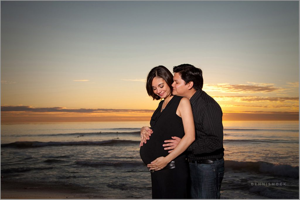 San Diego maternity photography at the beach sunset