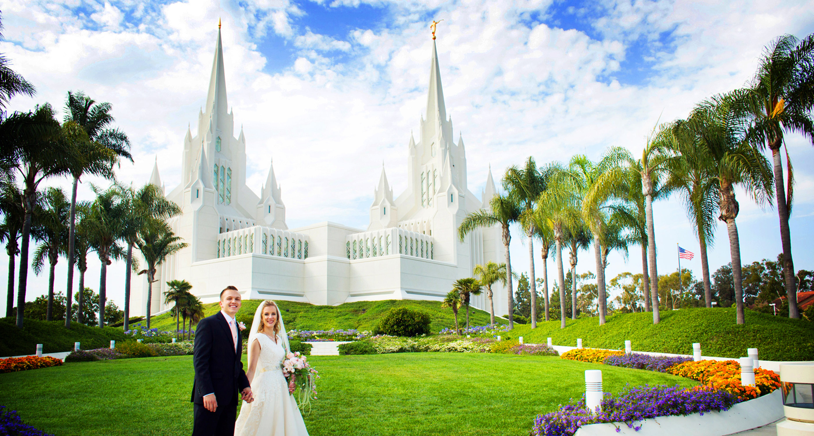 LDS Weddings at San Diego Temple