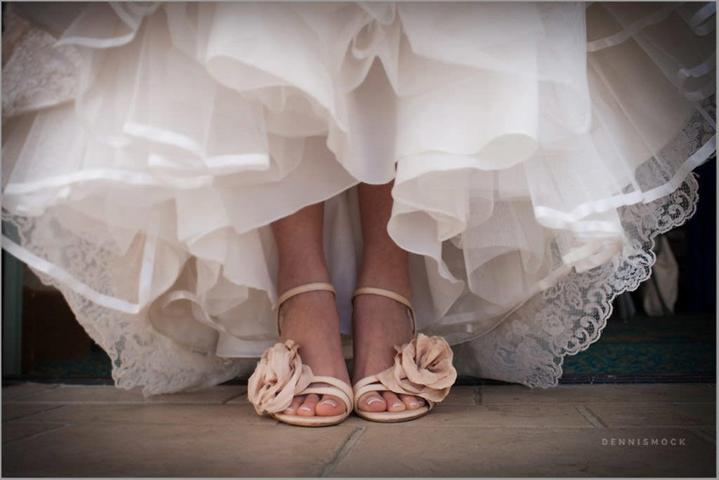 brides has fun shoes