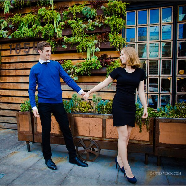 San Diego engagement photos by Dennis mock photographer. Playful, adventurous and colorful