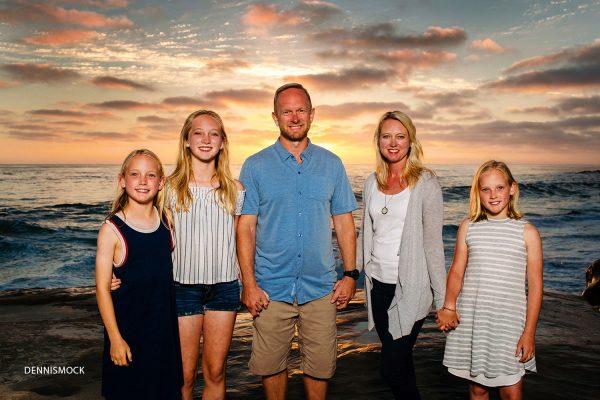 San Diego family portraits at La Jolla windansea beach by Dennis mock photographer