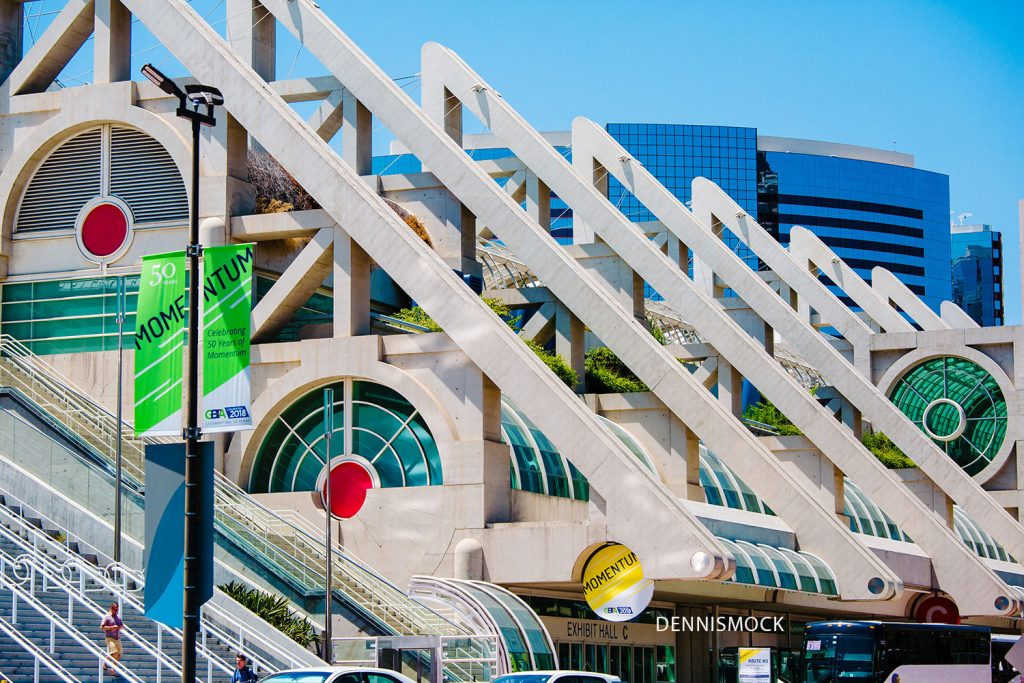 Exterior photo of the San Diego Convention Center. Photo copyright by San Diego Photographer Dennis Mock