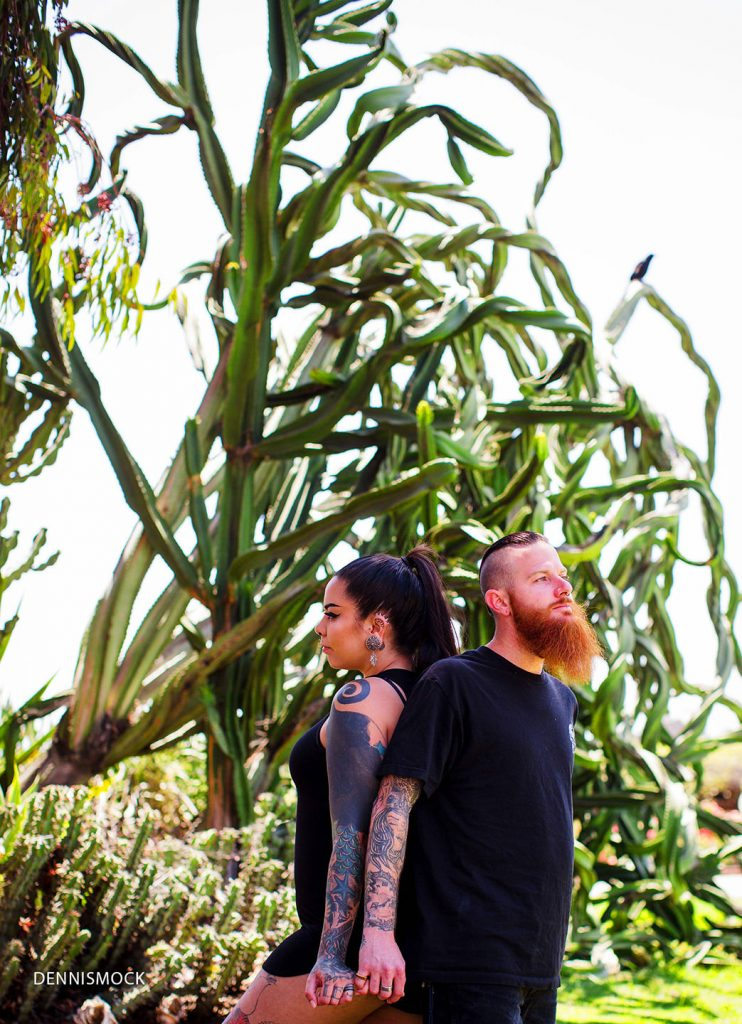 Modern couples shoot in San Diego Balboa Park. by Dennis Mock Photographer