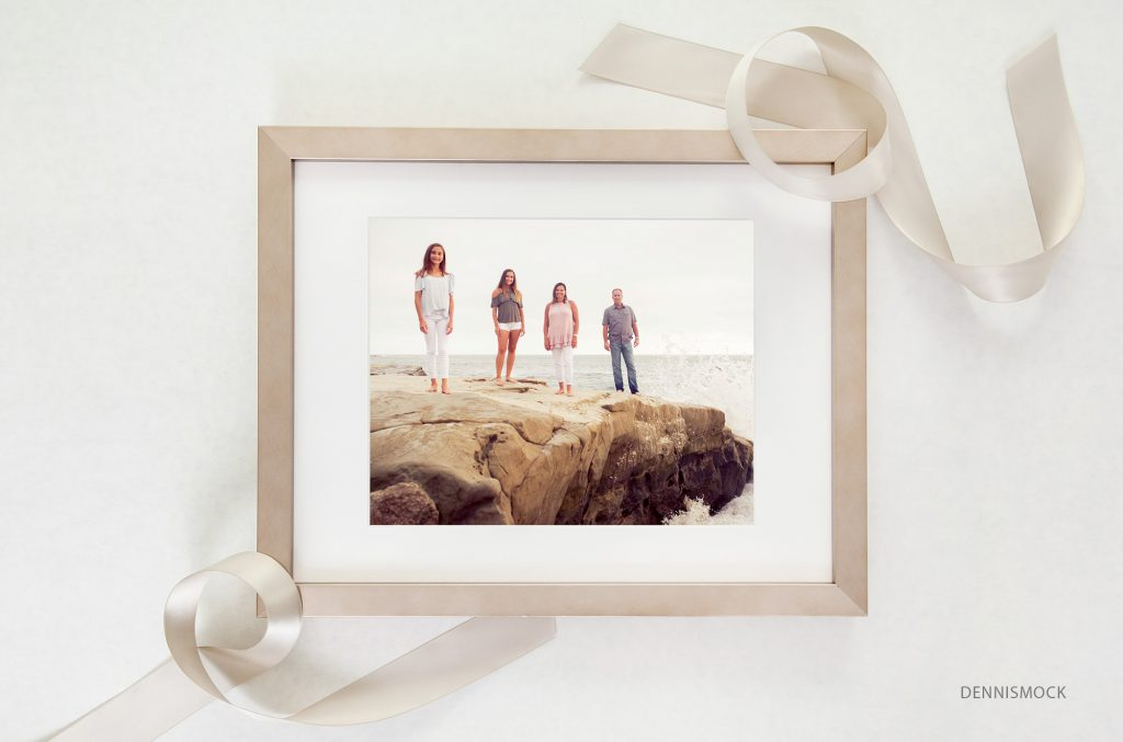 Framed photograph from San Diego family beach portrait session