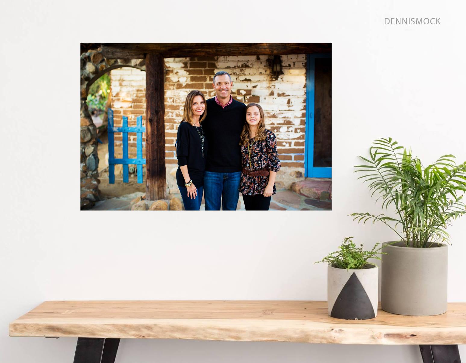 San Diego family portrait in a rustic setting in Carlsbad California