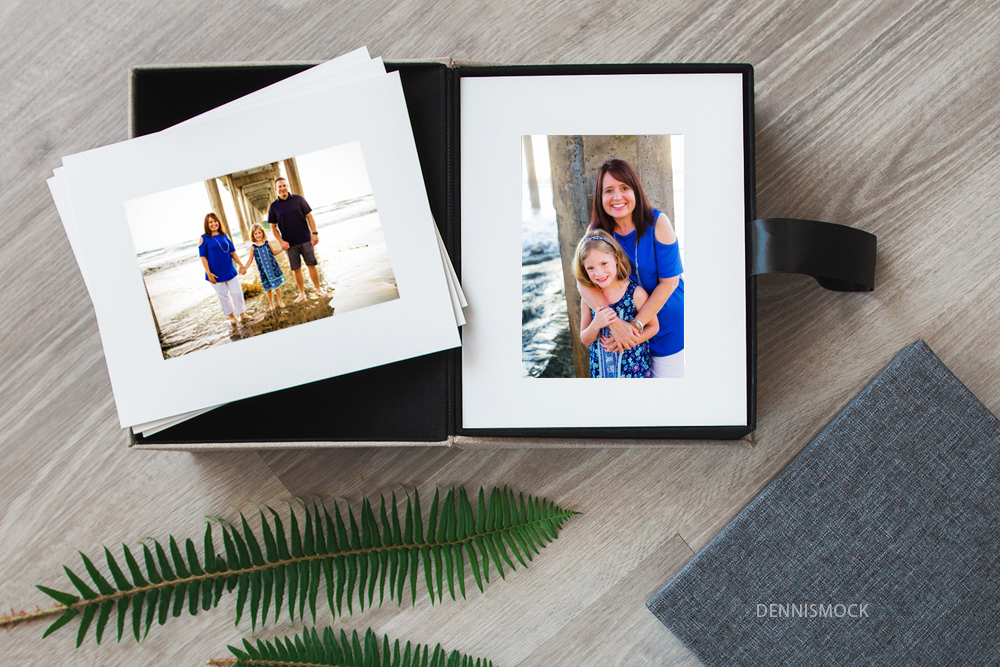 prints are forever favorite photos in a linen box