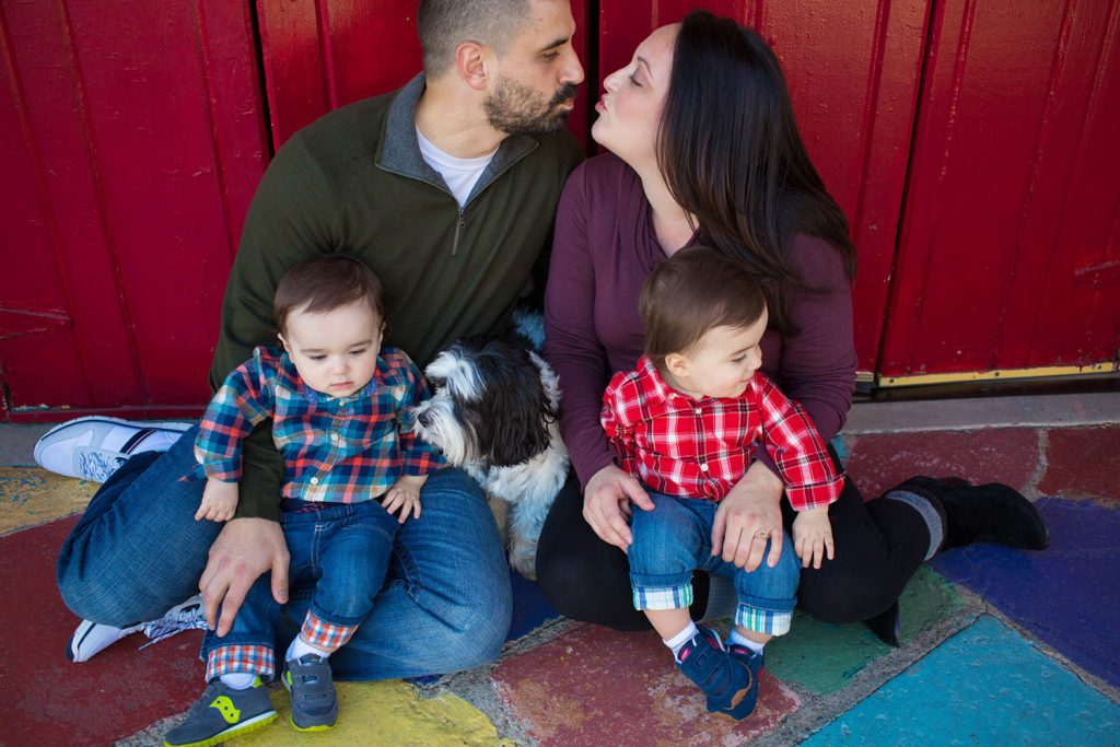 Balboa park family mini-sessions for holiday cards