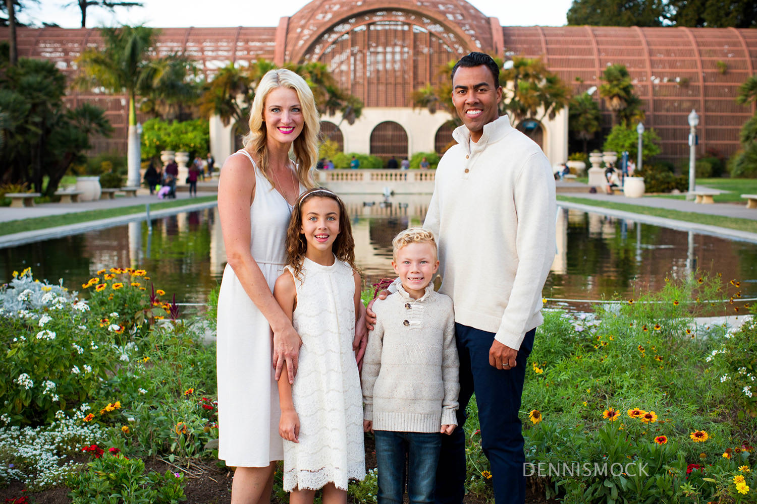 candid family portrait at San Diego's Balboa Park