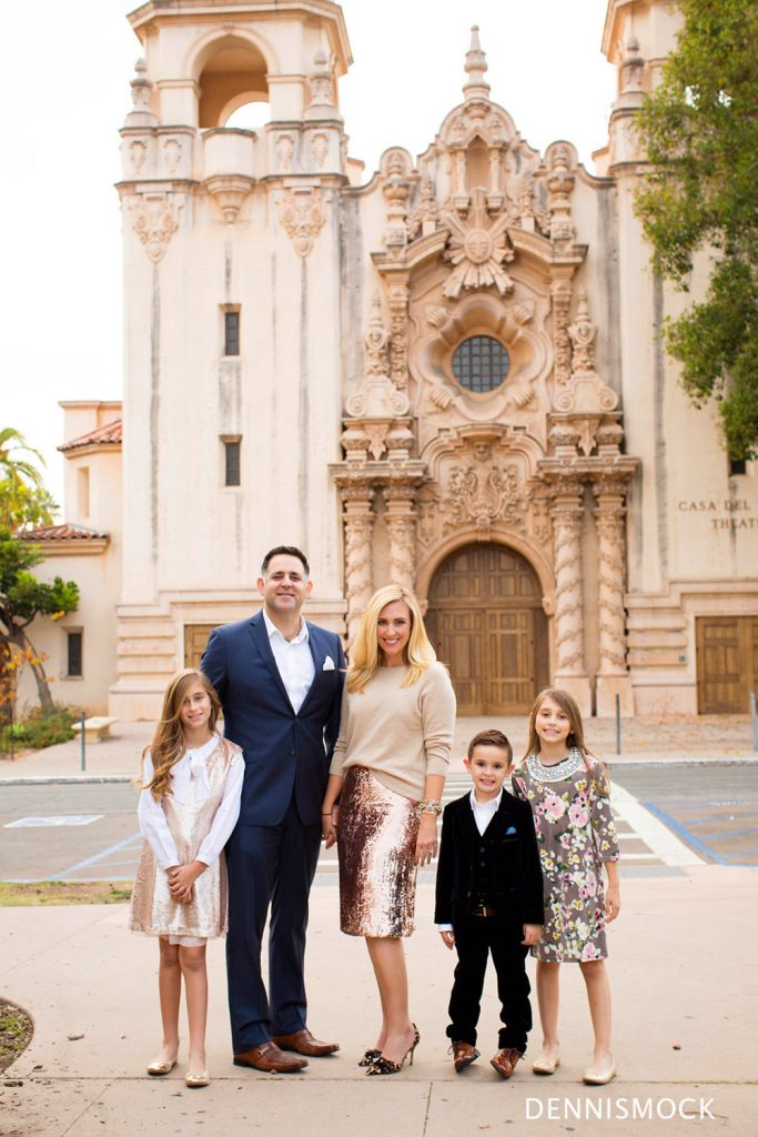 family portraits with Balboa park architecture
