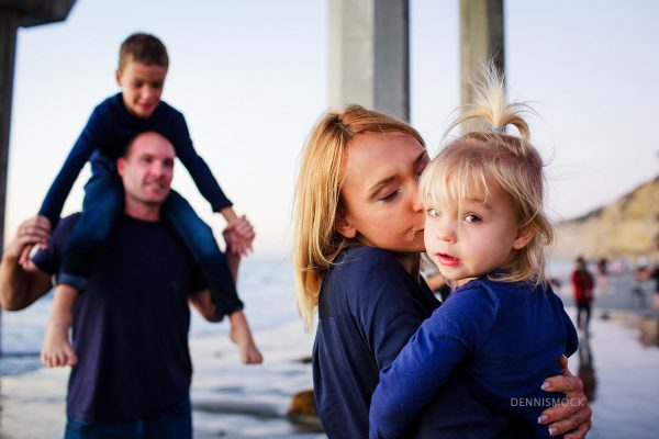 Love the in between moments capture Mother Daughter during a San Diego Family Portrait session with Dennis Mock Photographer