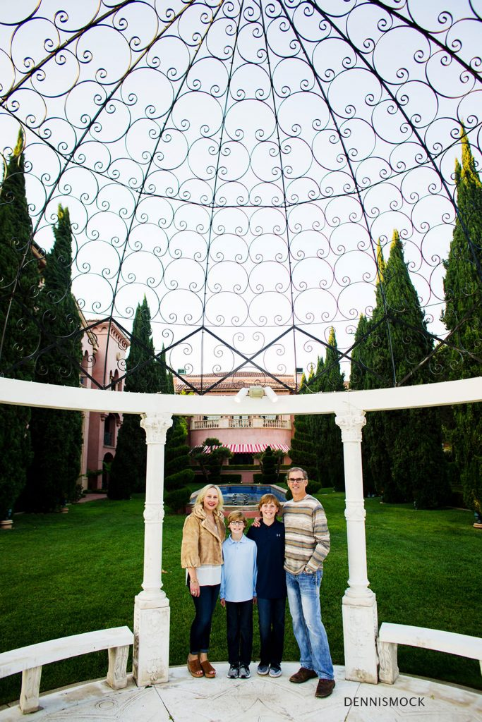 San Diego family portraits at the Fairmount Grand Del Mar Hotel. Photos by Dennis Mock Photographer