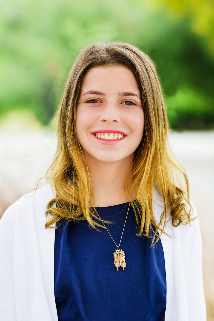 Bat Mitzvah portrait taken in San Diego CA