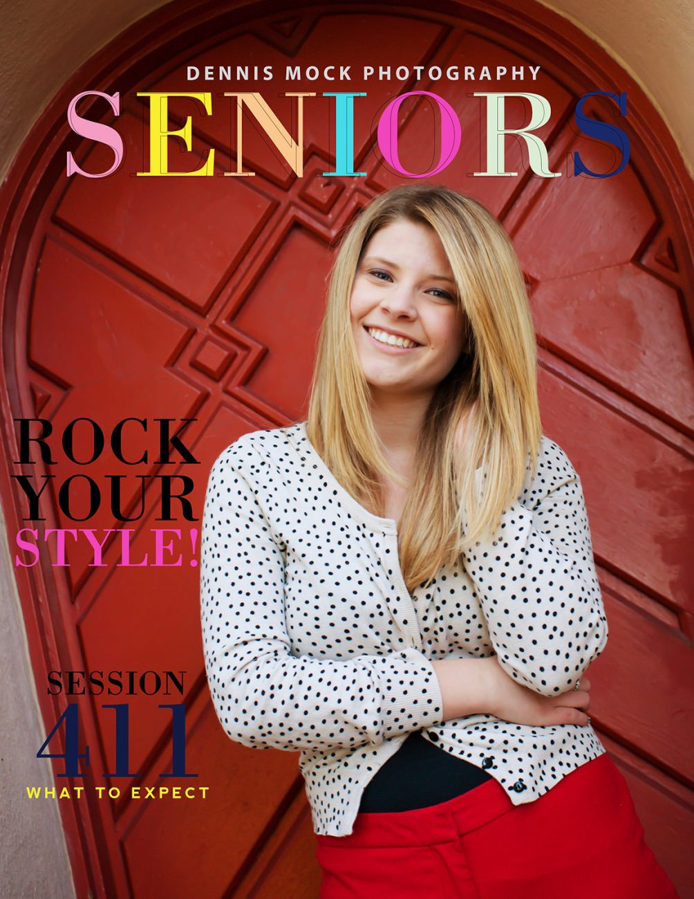 San Diego senior portraits at the Balboa park with colorful backgrounds