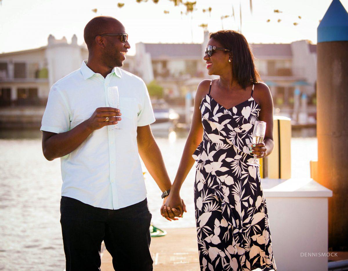 surprise wedding proposal as she said yes in Coronado California