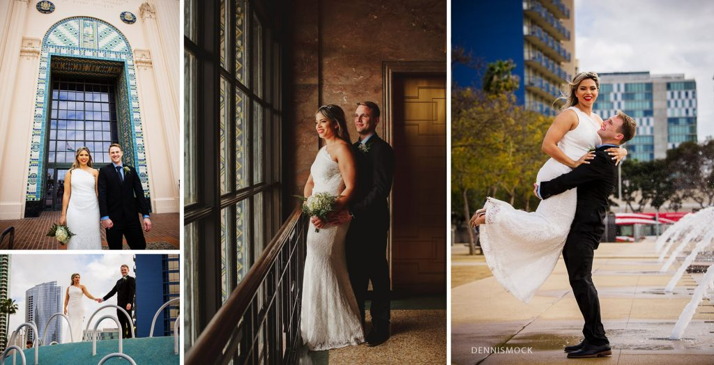 San Diego wedding photographer downtown  couples getting married  elope